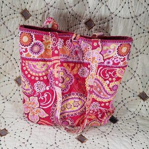 EUC Vera Bradley Raspberry Fizz Tote Bag